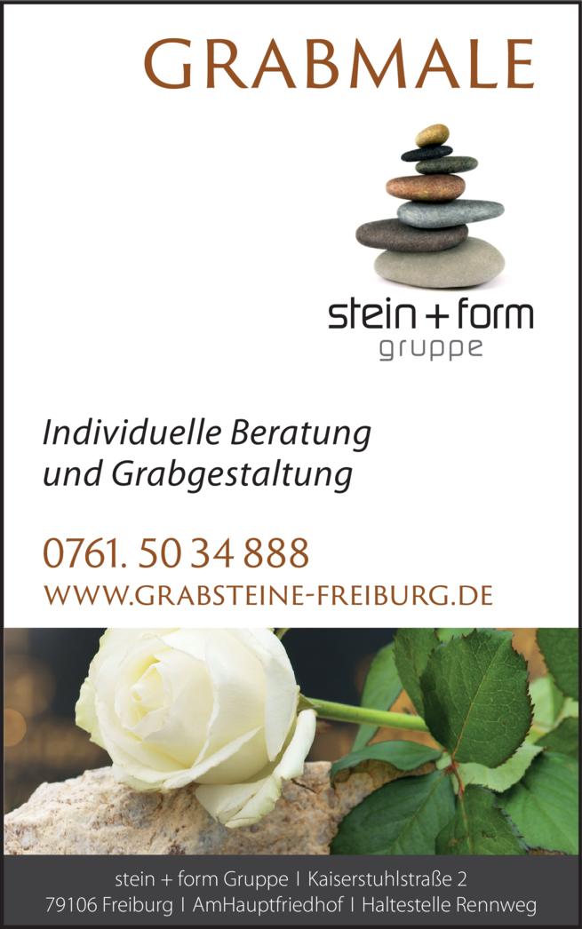 Anzeige Stein + Form