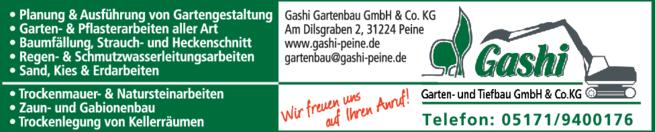 Gashi Garten Und Landschaftsbau gashi gartenbau gmbh co kg in peine in das örtliche