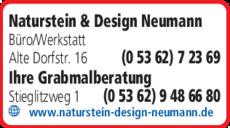 Anzeige Naturstein & Design Neumann