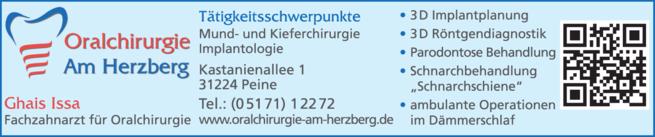 Anzeige Oralchirurgie Am Herzberg