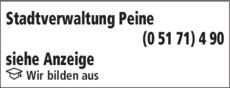 Anzeige Stadtverwaltung Peine