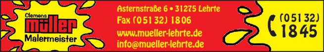Anzeige Müller Clemens