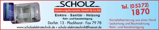 Anzeige Scholz Sanierungskonzepte GmbH & Co. KG