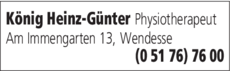 Anzeige König Heinz-Günter