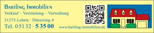 Anzeige Bartling Immobilien