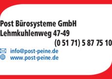 Anzeige Post Bürosysteme GmbH