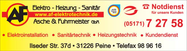 Anzeige Asche & Fuhrmeister GbR