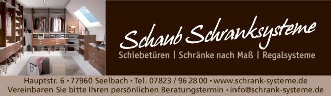 Anzeige Schaub Möbel