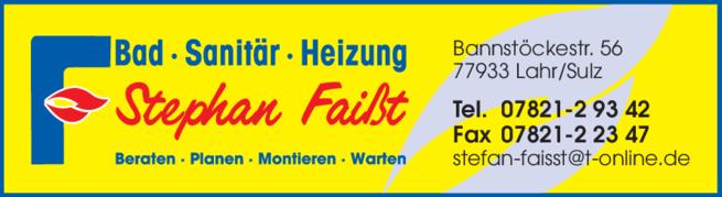 Anzeige Faißt Stephan Bad Sanitär Heizung
