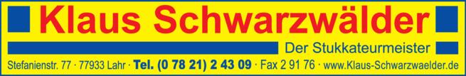 Anzeige Schwarzwälder Klaus, Stukkateurmeister