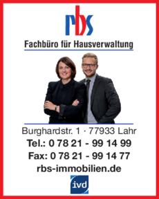 Anzeige RBS Immobilien GmbH