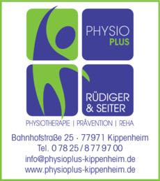 Anzeige Krankengymnastik PHYSIO PLUS