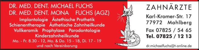 Anzeige Fuchs M. Dr.med.dent.