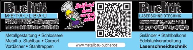 Anzeige Bucher GmbH Metallbau