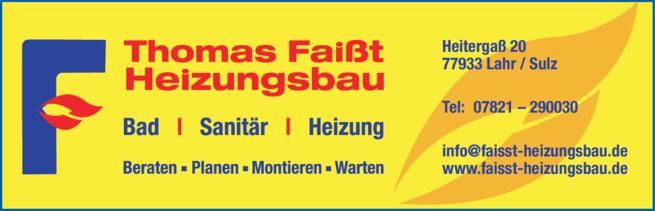 Anzeige Faißt Thomas Heizungsbau, Bad - Sanitär - Heizung