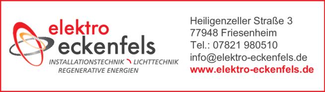 Anzeige Eckenfels Elektro GmbH