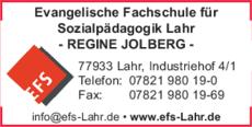 Anzeige Ev. Fachschule f. Sozialpädagogik