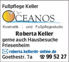 Anzeige Fußpflege Keller Roberta