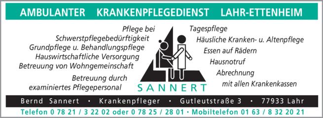 Anzeige Sannert Bernd, Ambulanter Krankenpflegedienst
