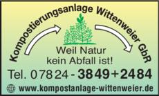 Anzeige Wittenweier GbR, Kompostierungsanlage