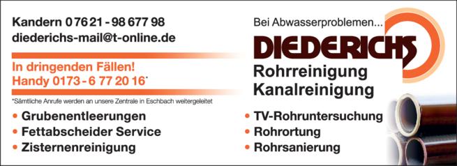 Anzeige Fettabscheiderentleerungen Diederichs