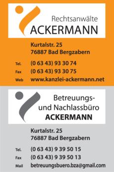Anzeige Rechtsanwälte Ackermann Matthias