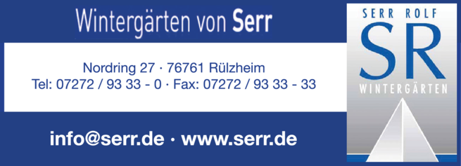 Anzeige Glashäuser Serr Rolf