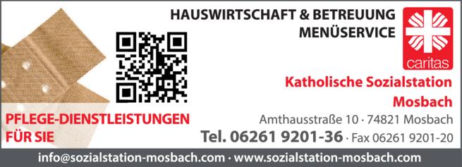 Anzeige Sozialstation Mosbach