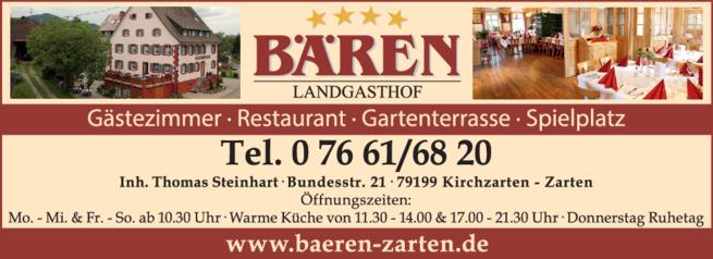 Anzeige Gewölbekeller Gasthaus zum Bären