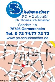 Anzeige Computer Schuhmacher Thomas