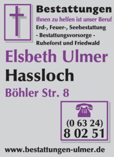 Anzeige Bestattungen Ulmer