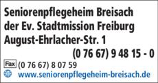 Anzeige Altenpflegeheim Breisach