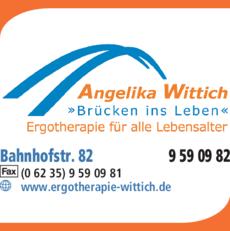 Anzeige Ergotherapie Wittich Angelika