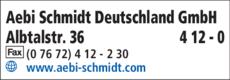 Anzeige Aebi Schmidt Deutschland GmbH