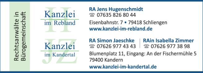 Anzeige Verkehrsrecht Kanzlei im Kandertal