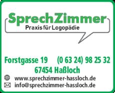 Anzeige Logopädiepraxis Sprechzimmer