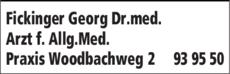 Anzeige Fickinger Georg Dr.med.