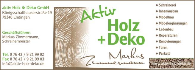 Anzeige Holz Deko Zimmermann Markus
