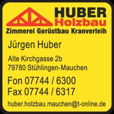 Anzeige Huber Jürgen