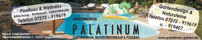 Anzeige Garten- u. Landschaftsbau Palatinum