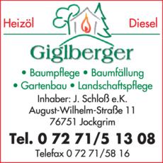 Anzeige GIGLBERGER, Inh. Judith Schloß