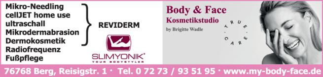 Anzeige Kosmetik Body & Face