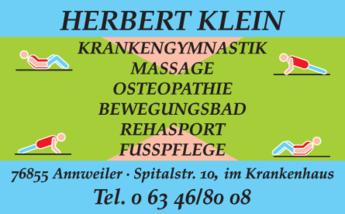 Anzeige Klein Herbert