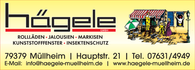 Anzeige Klappläden Hägele GmbH