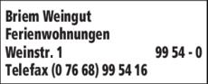 Anzeige Briem Weingut