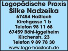 Anzeige Logopädische Praxis Nadzeika Silke