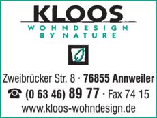 Kloos Wohndesign In Annweiler In Das Ortliche