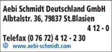 Anzeige Schmidt Aebi Schmidt Deutschland GmbH