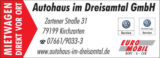 Anzeige VW Servicepartner Autohaus im Dreisamtal GmbH