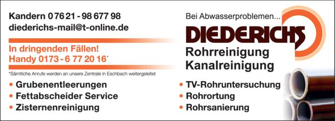 Anzeige Rohrsanierung Diederichs